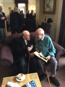 Johnny Johnson of Squadron 617 pictured with hotel guest Derek Coombes