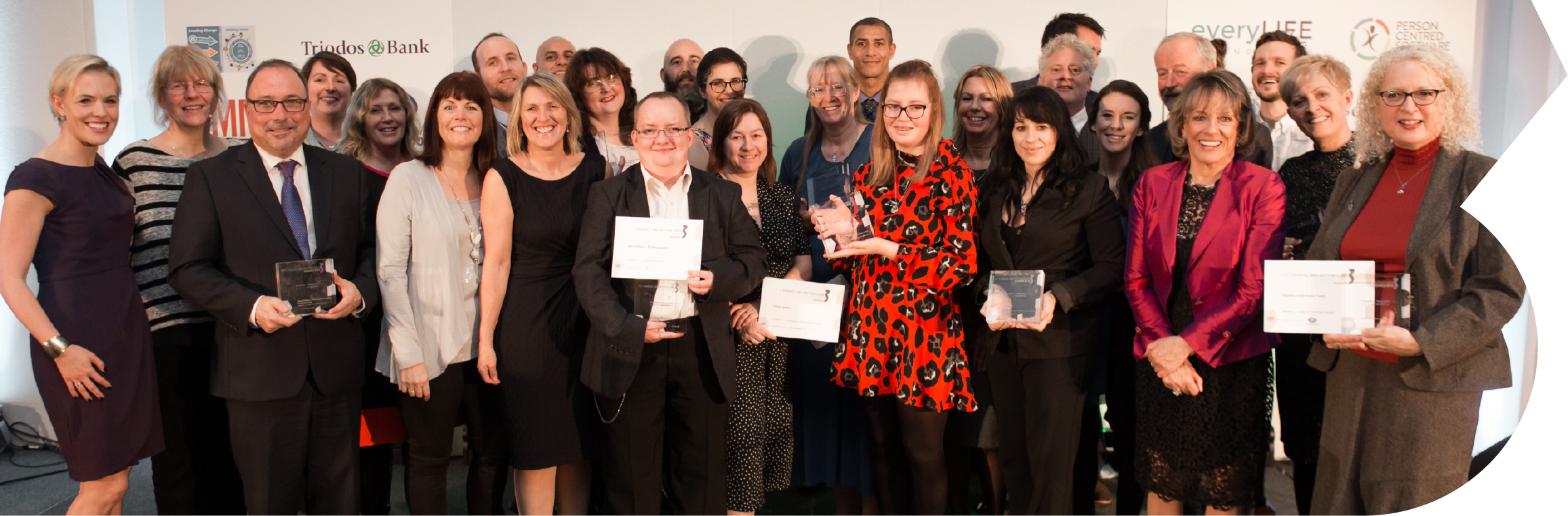 winners and finalists at the 3rd Sector Awards