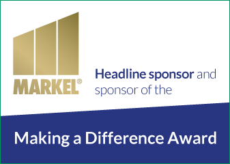 Markel logo sponsors of Making a difference award
