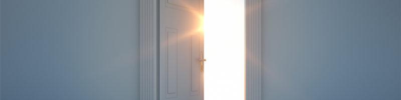 Sunlight through door