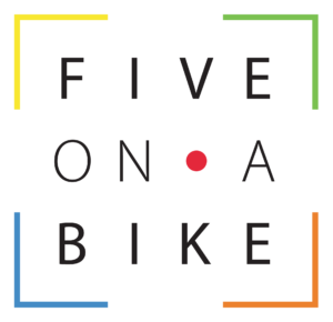 Five on a bike logo