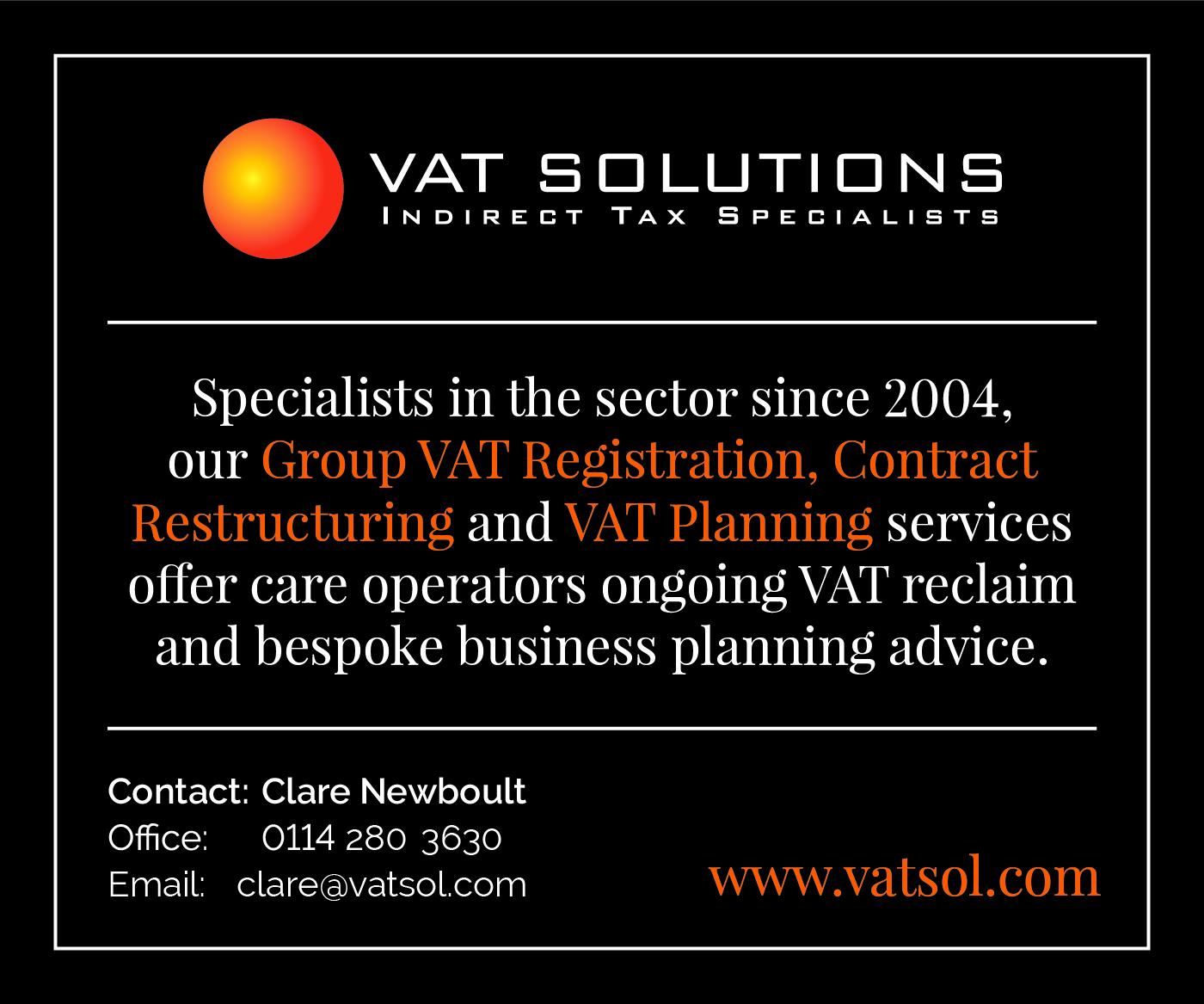VAT Solutions healthcare advert