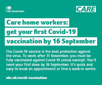 social care vaccination advert